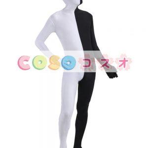 全身タイツ コスチューム カラーブロック フルボディ ボディースーツ ユニセックス―taitsu-tights0412