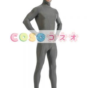 グレー ライクラ ユニセックス ライクラ スパンデックス全身タイツ ・ スーツ―taitsu-tights0716