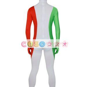 全身タイツ,イタリアの国旗柄 ユニセックス 大人用 コスチューム衣装 コスプレ ―taitsu-tights1266