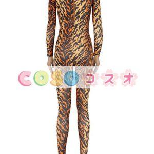パターニング全身タイツ ブラウン ノベルティ ライクラ・スパンデックス 大人用 女性用 ハロウィーン ―taitsu-tights1559