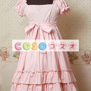 甘いスクエア ネック ピュア コットン カントリーロリータ ドレスをフリルします。 ―Lolita0297