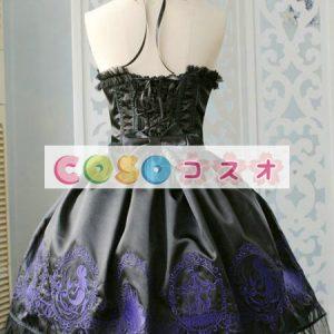 コルセット 可愛い サテン パーティー  ―Lolita0579