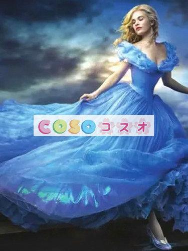 ハロウィン シンデレラ ドレス 大人用 ブルー プリンセス コスチュームコスプレ―festival-0015 1