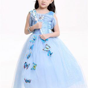 アナと雪の女王 エルサ コスプレ ドレス ワンピース 衣装 服 ドレス ディズニー 公式 コスチューム 子供用 キッズ 女の子 プリンセス-Halloween-trw0725-0121