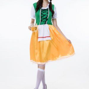オクトーバーフェスト ハロウィン コスプレ衣装 大人用 cosplay 民族風  メイド服-Halloween-trw0725-0372