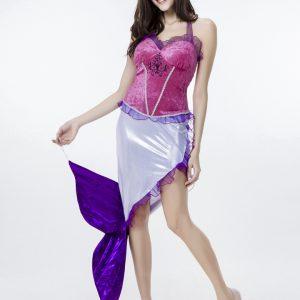 ディズニー マーメイド ゲームの服 Mermaid Costumes ハロウィン 人?プリンセス-Halloween-trw0725-0416