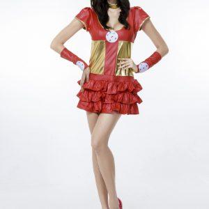 スーパーウーマン cosplay  ハロウィン 制服 ナイトクラブ   仮装 コスチューム 大人-Halloween-trw0725-0471