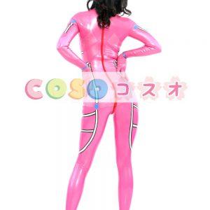 コスチューム衣装 全身タイツ メタリック ピンク レオタード ジャンプスーツ 大人用 女性用 ―taitsu-tights0144