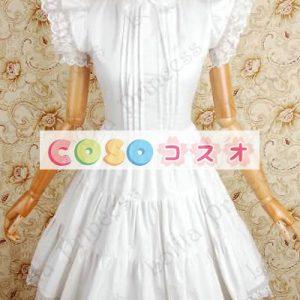 甘いの純粋な綿スタンド襟フリルの付いたロリータワン ピース ―Lolita0049