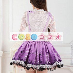 グレープ ショットスカート ロリィタスカート サロペットスカート タンポポ プリント ―Lolita0159