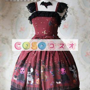 甘い弓シフォン カントリーロリータ ドレス ―Lolita0266