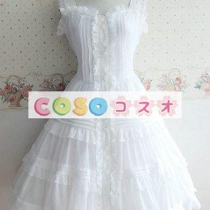 甘いボタン ポリエステル ロリータ ドレス―Lolita0323