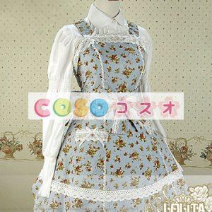 甘い花柄プリント コットン ポリエステル ノースリーブ ロリータ ドレス ―Lolita0675