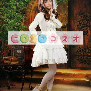 ロリータセパレート ホワイト 姫袖 ロングスリーブ スィート リボン  ―Lolita0873