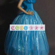 ハロウィン シンデレラ ドレス 大人用 ブルー プリンセス コスチュームコスプレ―festival-0015 2