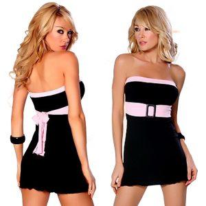 クラブドレス ブラック ボートネック ポリエステル ノースリーブ  -halloween-trz0725-0167