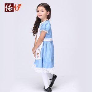 ファンタジーコスチューム衣装 不思議の国のアリス ドレス 女の子用-halloween-trz0725-0303