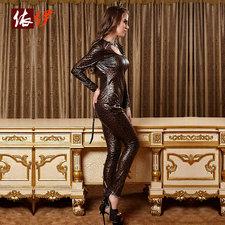 キャットウーマン,セクシー 胸開き ヒョウ柄 コスチューム衣装-halloween-trz0725-0308
