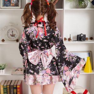 Sexy kimono 桜 さくら 豪華な 着物 浴衣 ロリータ 写真撮影-Halloween-trw0725-0075