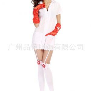 Nurse Costumes ナイトクラブ コスプレ衣装 ナース服 セクシー 白  看護師 白衣-Halloween-trw0725-0087