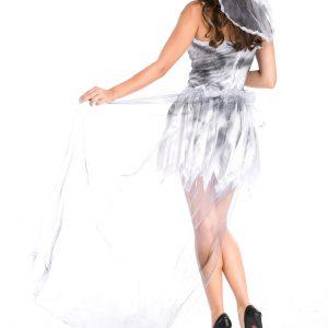 ハロウィン コスプレ衣装 お花嫁 鬼新娘 死体 女性 大人用 魔女っ子-Halloween-trw0725-0147