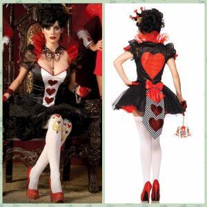 Halloween Costume デジタルポーカー クイーン 服 ラスベガス ラウンダーズ 制服 -Halloween-trw0725-0240