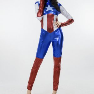 Halloween キャプテンアメリカ コスチューム コスプレ衣装 コスプレ キャプテン・アメリカ Captain America セクシー 誘惑 スパイ ディスガイズ(disguise)船長-Halloween-trw0725-0322