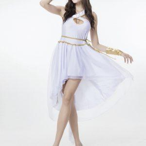 Greek Goddess ホワイト  ギリシャの女神  ドレス cosplay服 ハロウィン -Halloween-trw0725-0329