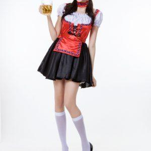 オクトーバーフェスト ハロウィン コスプレ衣装 大人用 cosplay 民族風  メイド服-Halloween-trw0725-0382