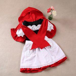 世界の童話・昔話 赤ずきんchan エプロン  ワンピース ハロウィン/衣装 子供-Halloween-trw0725-0403