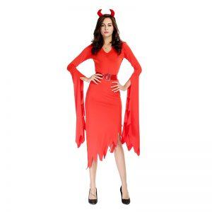 コスチューム 悪魔 コスプレ衣装 女性 大人用 ハロウィン 小悪魔 コスプレアイテム 仮装 仮装 衣装 変装-Halloween-trw0725-0405