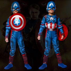 アベンジャーズ 2 エイジ・オブ・ウルトロン キャプテン・アメリカ DX 子供用 コスチューム マーベル ハロウィン-Halloween-trw0725-0431
