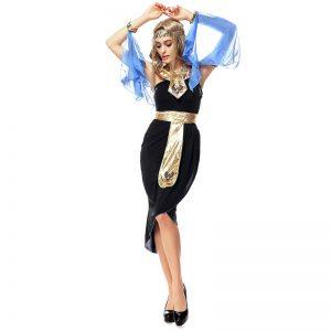 クレオパトラ 大人用 レディス 女性用 エジプト 古代エジプト 女神 ハロウィン コスチューム コスプレ 衣装 変装 仮装-Halloween-trw0725-0442