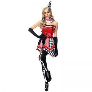 ハロウィン ピエロ 女性用 コスチューム サーカス コスチュームコスプレ-Halloween-trw0725-0510