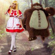 赤ずきんちゃん かつら 靴 ハロウィン コスプレ-Halloween-trw0725-0071 2