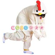 鶏さん パジャマ 着ぐるみ コスチューム 大人用 ホワイト―festival-0005 3