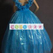 ハロウィン シンデレラ ドレス 大人用 ブルー プリンセス コスチュームコスプレ―festival-0015 3